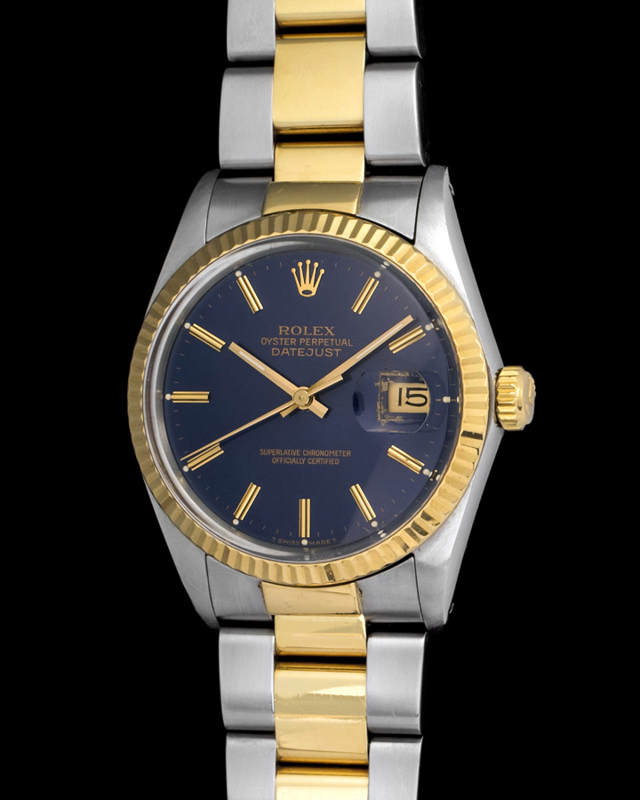 896481d836e Rolex Datejust 16013 with Blue Dial & Two Tone Case from 1987. Sold. 7101