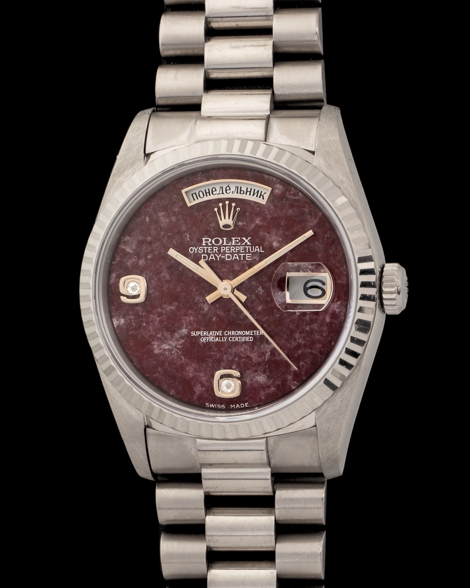 571eaea937a Rolex Day-Date 18239 White Gold with Grossularia Diamond Dial